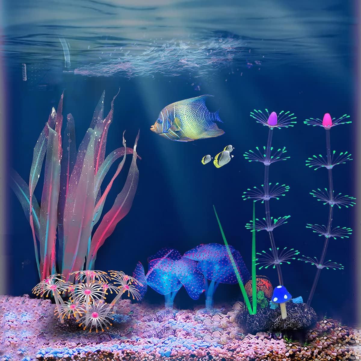 N\W Max 59% OFF Glow Fish Tank Stand Cheap SALE Start Decorations Assecories w Aquarium