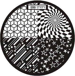 SODIAL ネイルアートスタンプピクチャープレート マニキュアテンプレート スチールカラー (HEHE-003)