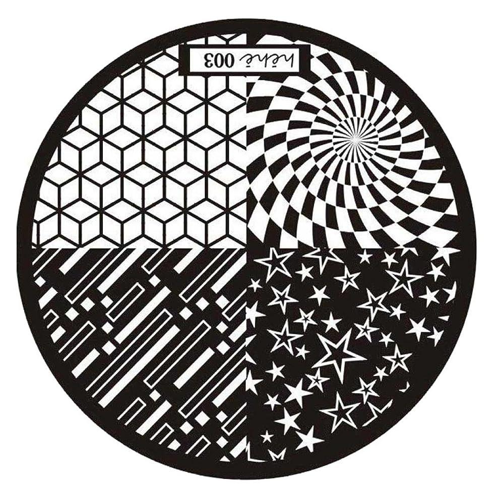 名門窒息させるハンディキャップSODIAL ネイルアートスタンプピクチャープレート マニキュアテンプレート スチールカラー (HEHE-003)