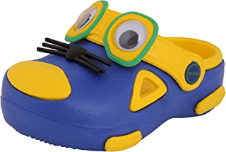 Yellow Bee Mouse Design Clogs for Boys, Yellow