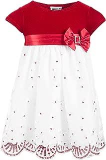 Baby Girls Velvet & Sequins Dress