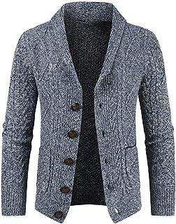 Cardigan Uomo Manica Lunga Bottone Tasche Risvolto Classico Uomo Business Casual Cappotto Moda Giacca Transizione Tempo Li...