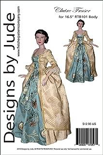 Outlander Claire Fraser Dress Pattern for 16.5