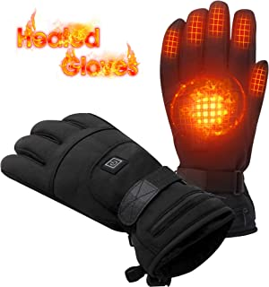 Highting Heated Gloves for Women Men Heated Gloves Hand Warmers Motorcycle Gloves Electric Batteries Gloves for Skiing Hiking Motorcycling Camping 3.7V