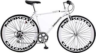 クロスバイク 自転車 シマノ製6段変速 レボシフター フラットハンドルバー 前輪クイックレリース 前後キャリパーブレーキ 通勤通学 街乗り 700C 60mmディープリム 4色