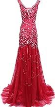 BessDress Beading Formal Party Dresses Half Sleeves Evening Dresses BD018