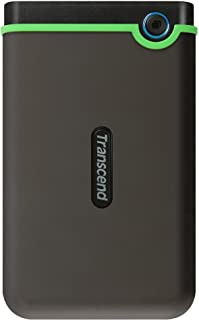 Transcend Slim StoreJet 25M3S 2TB Rugged External Hard Drive with Excellent anti-shock protection and lightning-fast trans...