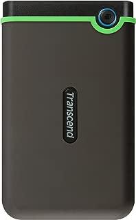 Transcend TS1TSJ25M3S StoreJet 1TB Portable External Hard Drive (Gray)