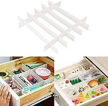 HOKIPO® Shelf Dividers for Drawers, 7 Interlocking Strips, 44 X 5 cm