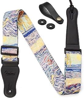 """Van Gogh""""Laboureur dans un champ"""" Guitar Strap Includes Strap Button & 2 Strap Locks Shoulder Strap For Bass, Electric & A..."""