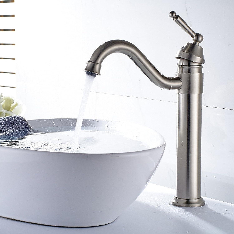connotación de lujo discreta SHLONG SHLONG SHLONG Cobre, níquel cepillado, bao, lavabo, grifo, codo, agua, giratorio, lavabo, grifo, lavabo sobre el mostrador, agua fría y caliente, agua mezclada, grifo  marca de lujo