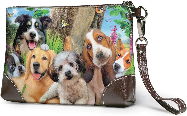 Cute Dogs Animal Hd Clutch Financial sales sale Brand Cheap Sale Venue Leather Wristlet Purses Wallet