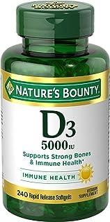 Vitamin D3 by Nature's Bounty, Supports Immune Health & Bone Health, 5000IU per Serve, 240 Softgels