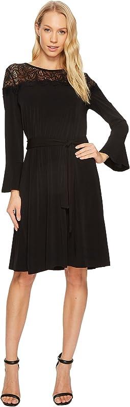 MICHAEL Michael Kors - Flounce Sleeve Lace Combo Dress