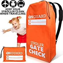 OnGuard Stroller Travel Bag for Double Strollers - Waterproof Rip Resistant Polyester Compact - Stroller Bag Cover Accessories, Stroller Bag for Airplane, Gate Check Bag for Baby Stroller