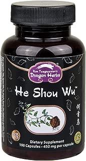 Dragon Herbs He Shou Wu - 500 mg - 100 Capsules - Dietary Supplement - 100% All Natural