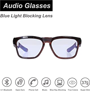 Safety Glasses,Over Ear Bluetooth Glasses with Built-in Microphone to Listening Music and Phone Calls, UV400 Blue Light Blocking Healthy Lens Technology for Gaming, Reading and Computer