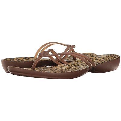 Crocs Isabella Graphic Flip (Leopard) Women