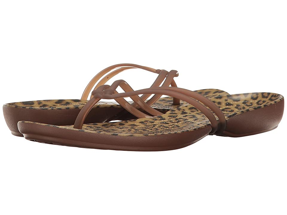 Crocs Isabella Graphic Flip (Leopard) Women's Sandals, Animal print