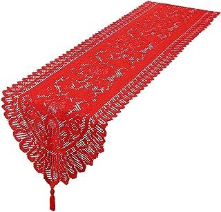 mookaitedecor Chemin de table en dentelle - Décoration de table pour mariage, fête, décoration d'événements