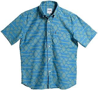 [MAJUN (マジュン)] 国産シャツ かりゆしウェア アロハシャツ 結婚式 メンズ 半袖シャツ 小襟ボタンダウン ハジチアンティーク