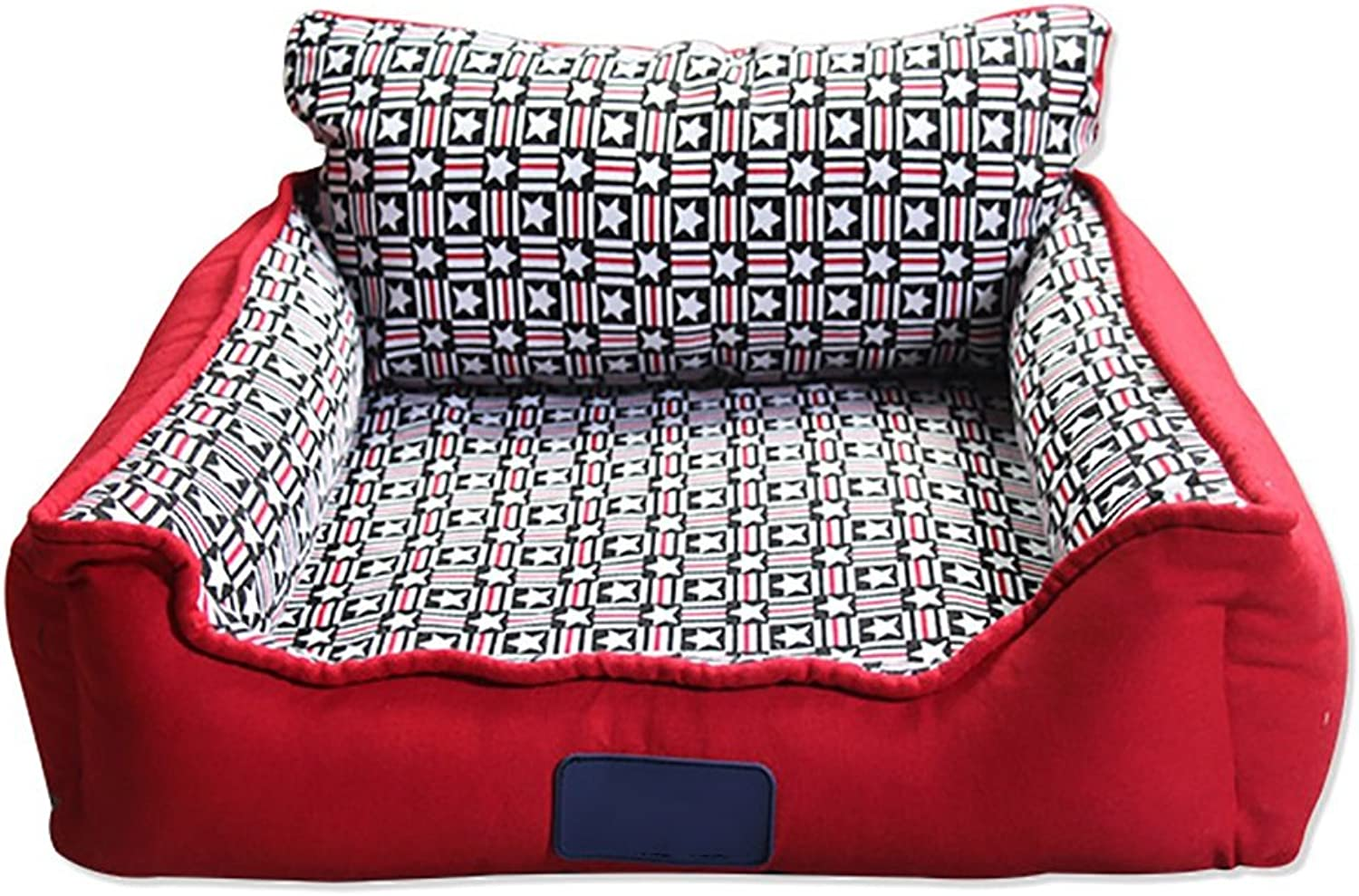 JH& Pet Kennel Cat Nest Removable And Washable Four Seasons ApplySmall Dog Bed Mat Dog Room,Red,63  63cm ++