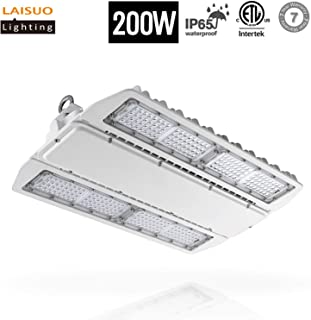 LAISUO Lighting LED High Bay Shop Light 200W Fixture (800W Equivalent), Industrial Workshop Lights 26000LM, 5000K Daylight, Warehouse Area Lights, ETL Certified, IP65 Waterproof, 7-year warranty