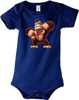 TRVPPY Baby Jungen & Mädchen Kurzarm Body Strampler Donkey Kong