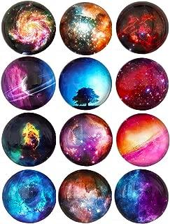 12 Stars Series Fridge Magnets Beautiful Glass Creative Pushpins for Whiteboard Office Calendar Decorative Popular Home Best Gift Button