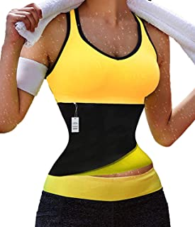 XXXX-Large, Yellow-Quick Weight Loss : Gotoly Hot Thermo Sweat Neoprene Shapers Belt Waist Cincher for Weight Loss