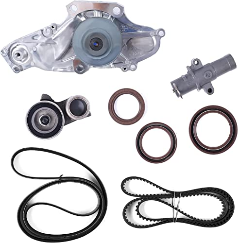 lowest Water Pump & Timing Belt 9 PCS Kit, popular Replacement for Honda & Acura popular 2003-2017 Accord, Pilot, Odyssey, Ridgeline, MDX, RDX, RL TL, TSX, ZDX outlet sale