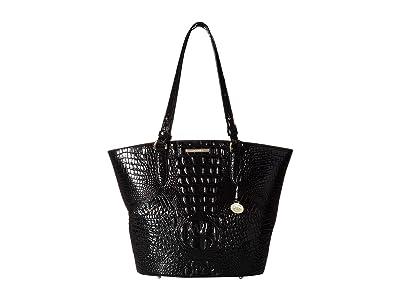 Brahmin Melbourne Medium Bowie Totes (Black) Tote Handbags