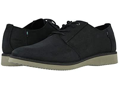 TOMS Preston (Black Distressed Leather) Men