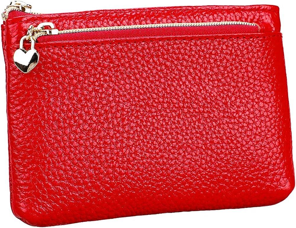 Hxt, mini portafoglio in pelle per donna, con protezione rfid