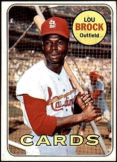Baseball Card 1967 Topps # 63 Cards Clubbers Lou Brock//Curt Flood St Louis Cardinals EX Cardinals Deans Cards 5