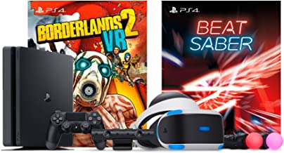 Playstation Beat Saber with Borderlands 2 VR Console Bundle: Playstation 4 Slim 1TB Gaming Console with PSVR Borderlands 2 VR and Saber Beat Bundle
