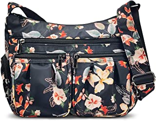 Crossbody Purses for Women RFID Shoulder Handbags Waterproof Nylon Travel Bag Pocketbooks