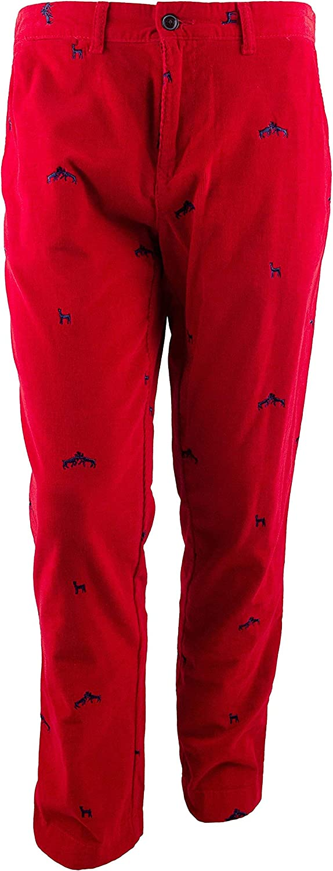 Tommy Hilfiger Men's Slim Fit Hunter Lodge Corduroy Pants-SR-33Wx30L