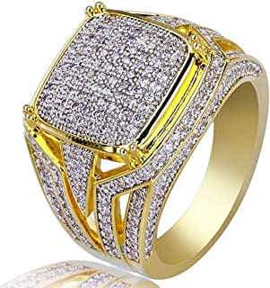 Yunnuopromi, anello da uomo/donna con luminosi diamanti sintetici