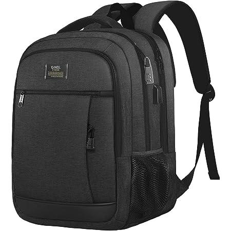QINOL Travel Laptop Backpack Anti-Theft Business Work Backpacks Bag With Usb Charging Port, Durable Water Resistant 15.6 Inch College School Computer Rucksack for Men Women