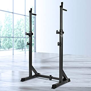 Everfit Squat Rack Adjustable Barbell Bar Squat Stand 300KG Capacity Home Gym Weight Lifting Stand for Barbell Set Fitness...