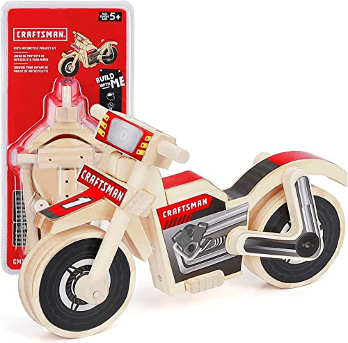 high quality Craftsman Woodworking Motorcycle Project Kit for Kids, Educational Toy Realistic Carpentry popular Motorcycle Construction, Take-along Gift for Boys & Girls, lowest Age 5+ online