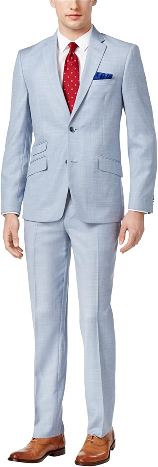 Ben Sherman Men's Two Button Max 72% OFF Slim Suit High quality new Chambray Fit