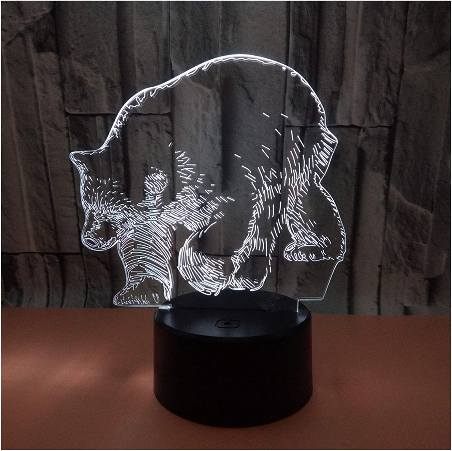 Max 74% OFF Super beauty product restock quality top! LED Night Lamp 3D Illusion Visual Light Led Bear Table Cre Polar