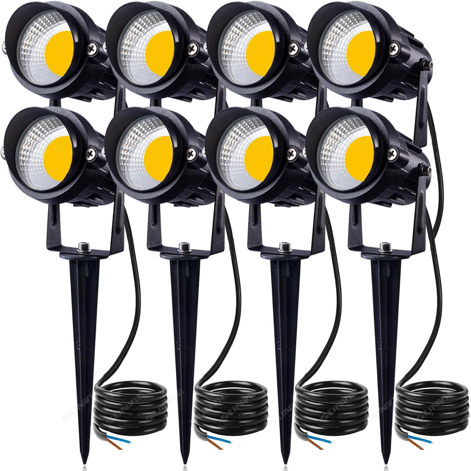SUNVIE 40W LED Landscape Lights Low Voltage AC/DC 40V Waterproof Garden  Pathway Lights Super Warm White 40LM Walls Trees Flags Outdoor  Spotlights ...