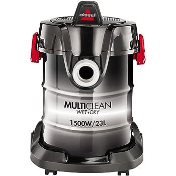 Bissell MultiClean W&D Drum - Limpiador Aspirador, 1500 W, 85 Decibelios, 23 L, color Negro/ Blanco