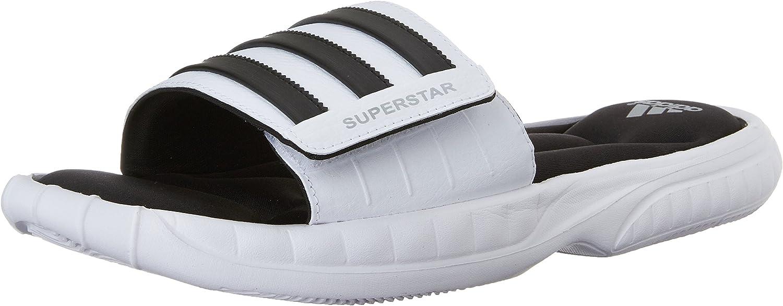 Adidas Superstar 3G Slide Sandale, schwarz   silber   grau, 5 M Us