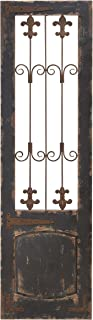 Deco 79 52726 Rustic Deep Espresso Wood and Metal Floret Wall Decor, 57