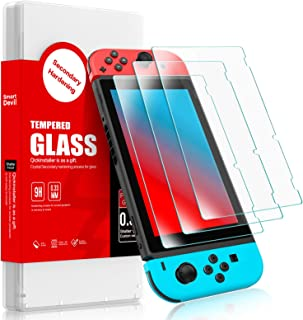 SMARTDEVIL 2 Pack Screen Protector Foils for Nintendo switch Protective Tempered Glass Film,Anti-Blue Light,9H Hardness Su...