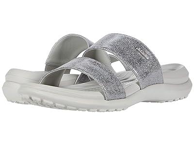 Crocs Capri Dual Strap Sandal (Pearl White) Women